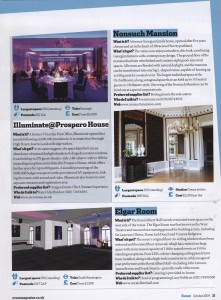 Event Magazine - Venue Files - October 2009