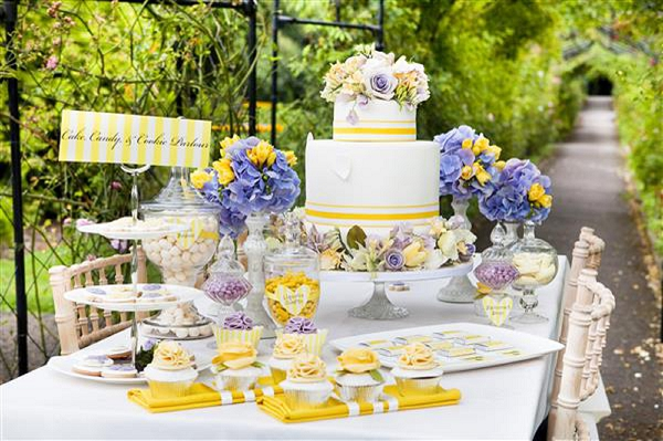 Purple and Yellow Wedding Inspiration \u2013 Whimsical Wedding Wonderland